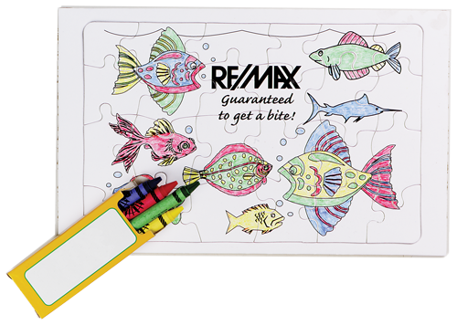 Coloring Puzzle with Crayons